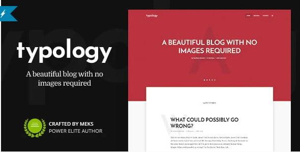 Typology - 35+ BEST Free WordPress Minimalist Themes [year]