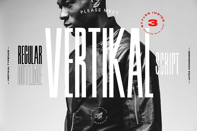 Vertikal - 38+ TOP BEST Bold Display Fonts [year]