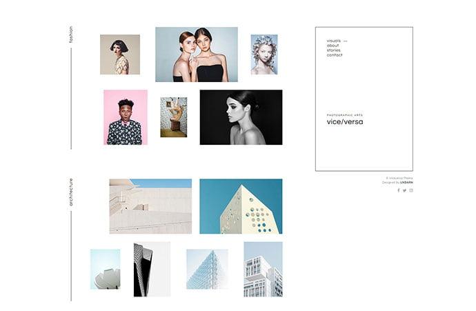 Viceversa - 43+ BEST WordPress Minimalist Portfolio Themes [year]