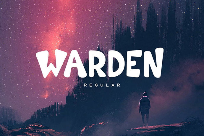 Warden - 38+ TOP BEST Bold Display Fonts [year]