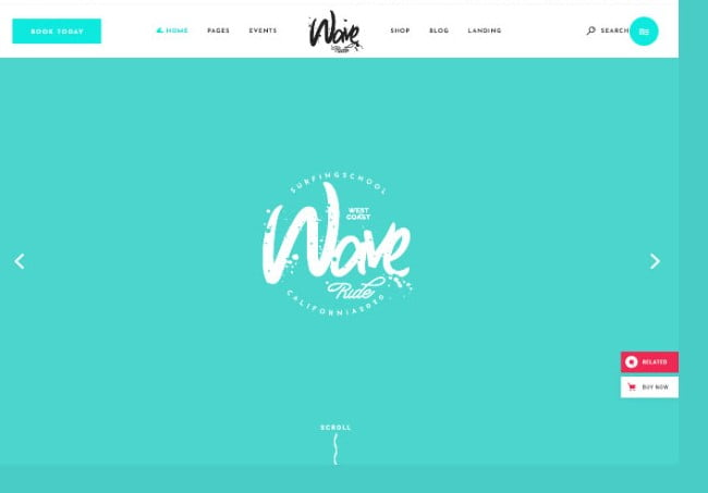 WaveRide - 35+ TOP Surfing Website WordPress Themes [year]