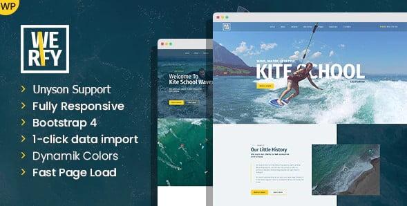 Werfy - 35+ TOP Surfing Website WordPress Themes [year]