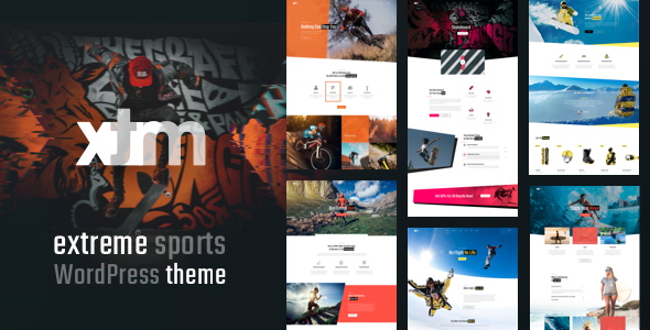 XTRM - 35+ TOP Surfing Website WordPress Themes [year]