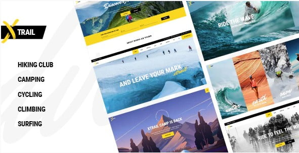 Xtrail - 35+ TOP Surfing Website WordPress Themes [year]