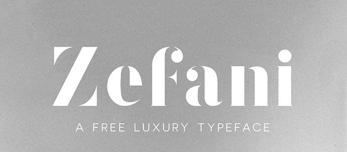 Zefani - 36+ NICE BEST Free Stencil Fonts [year]