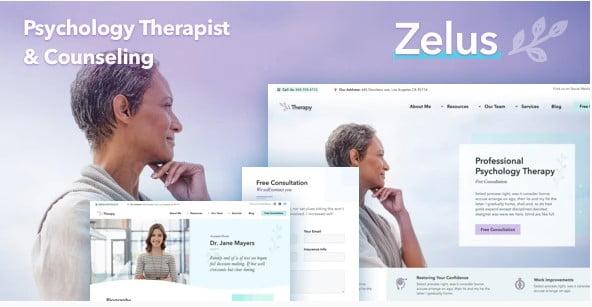 Zelus - 34+ BEST Psychologists, Therapists WordPress Themes [year]