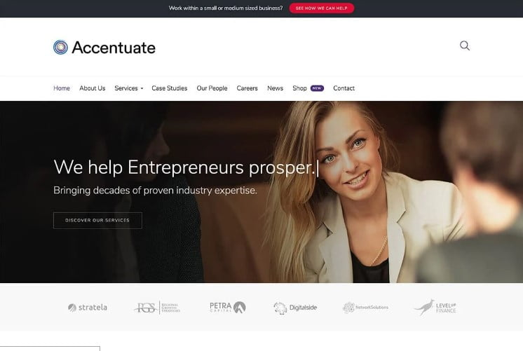 Accentuate - 33+ TOP WordPress Consulting Themes [year]