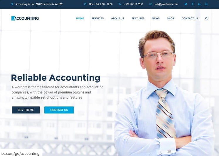 Accounting-2 - 33+ BEST WordPress Financial Themes [year]