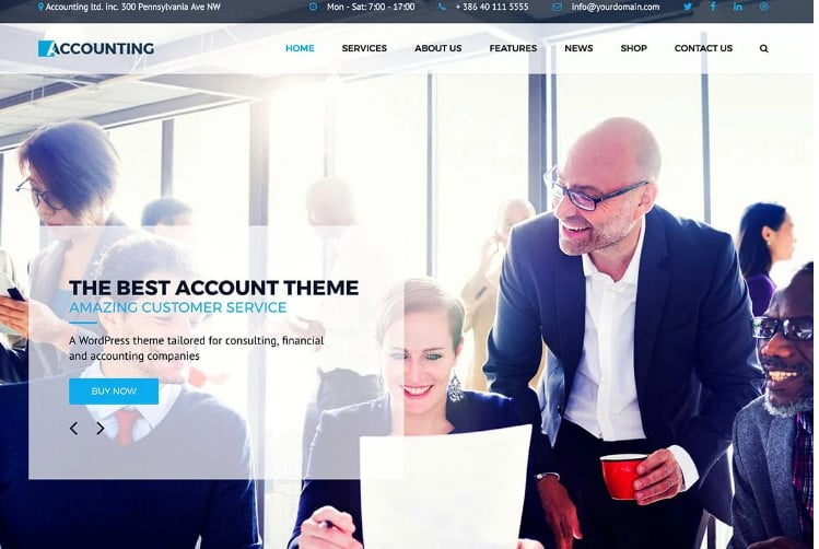 Accounting - 33+ TOP WordPress Consulting Themes [year]