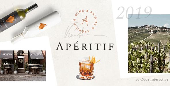 Aperitif - 28+ NICE WordPress Wine Themes [year]