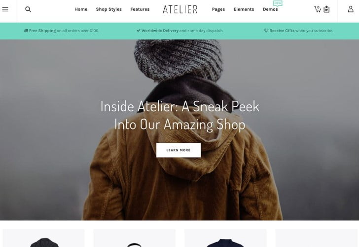 Atelier - 47+ AWESOME WordPress Woocommerce Themes [year]