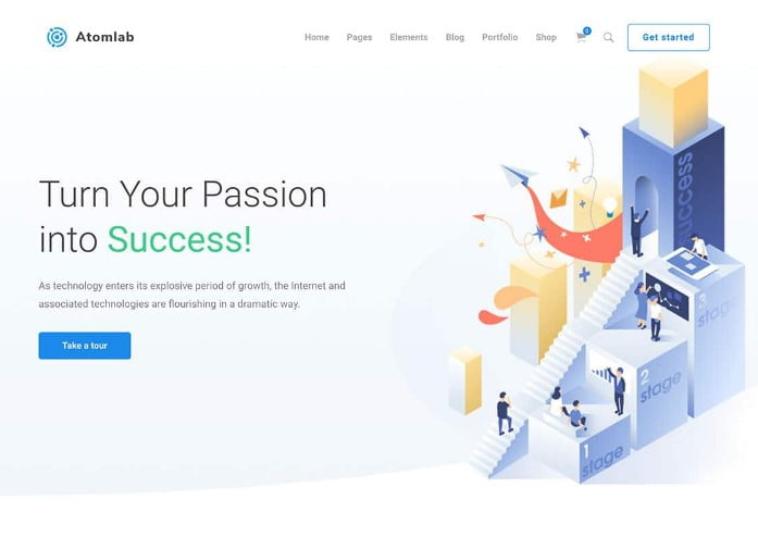 Atomlab - 29+ GREAT Startups WordPress Themes [year]
