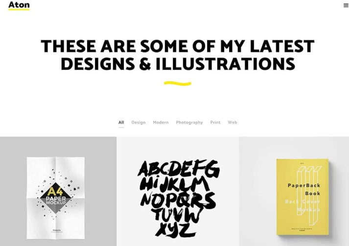 Aton - 36+ GREAT Designers WordPress Themes [year]