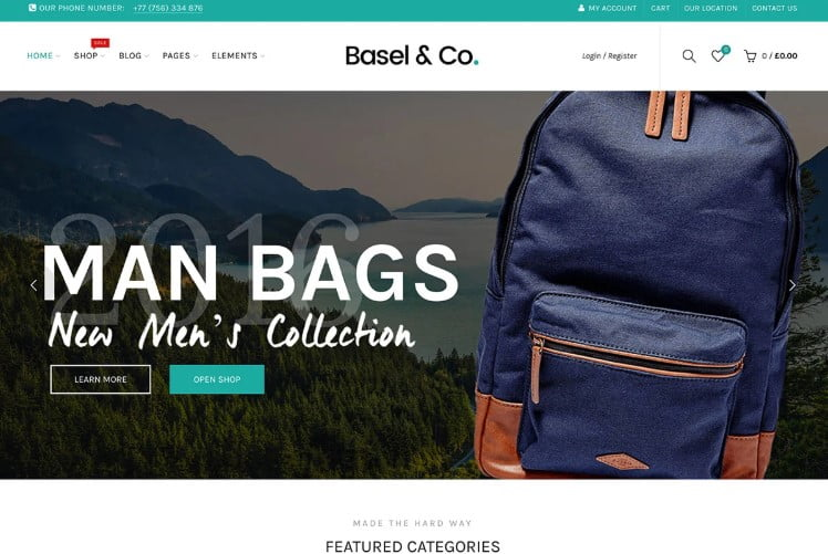 Basel-1 - 47+ AWESOME WordPress Woocommerce Themes [year]