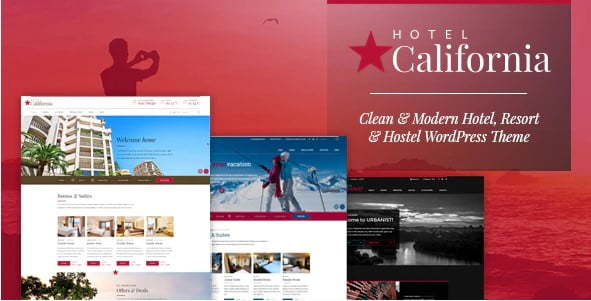 California - 25+ GREAT Free WordPress Hotel Themes [year]