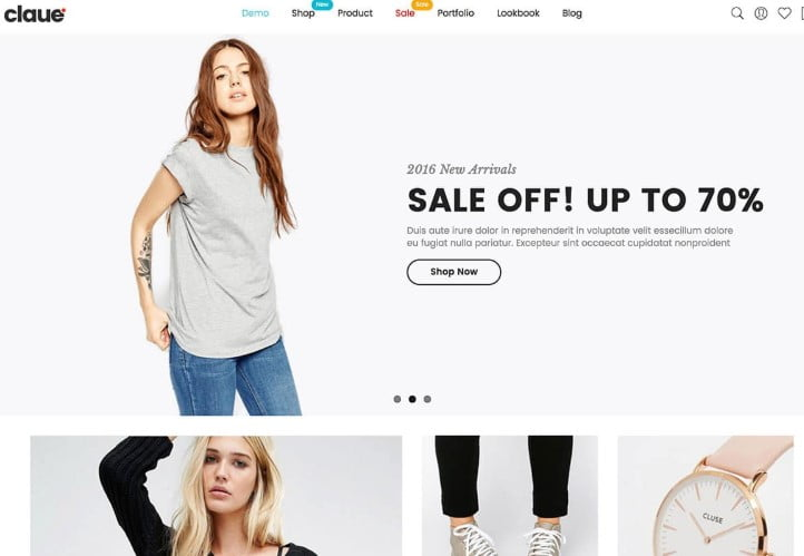 Claue - 47+ AWESOME WordPress Woocommerce Themes [year]
