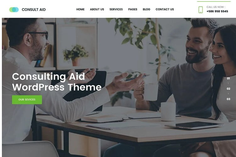 Consult-Aid - 33+ TOP WordPress Consulting Themes [year]