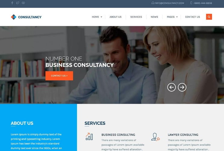 Consultancy - 33+ TOP WordPress Consulting Themes [year]