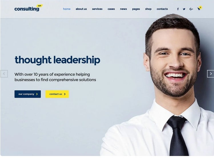 Consulting-1 - 33+ BEST WordPress Financial Themes [year]