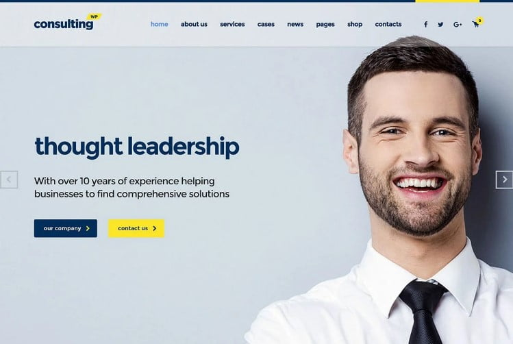 Consulting - 33+ TOP WordPress Consulting Themes [year]