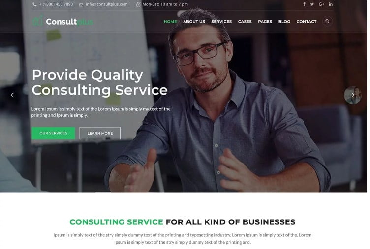 Consultplus - 33+ TOP WordPress Consulting Themes [year]