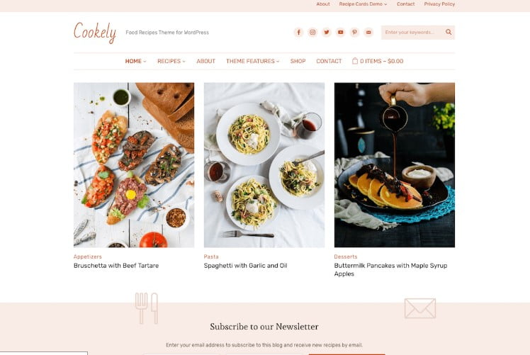 Cookely - 41+ AMAZING WordPress Food Themes For Recipes [year]