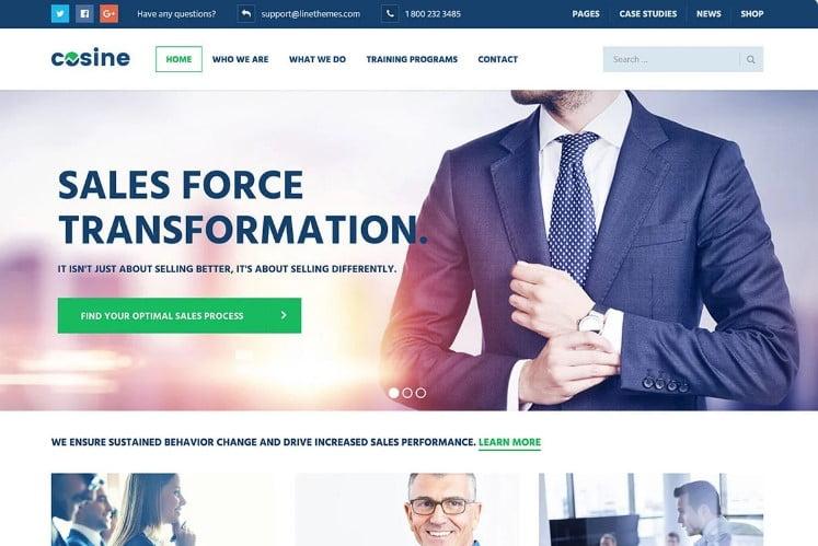 Cosine - 33+ BEST WordPress Financial Themes [year]