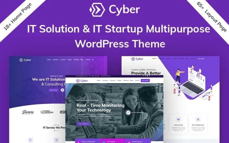 Cyber - 33+ TOP WordPress Consulting Themes [year]