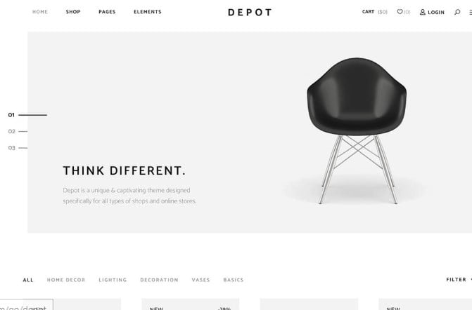 Depot - 47+ AWESOME WordPress Woocommerce Themes [year]