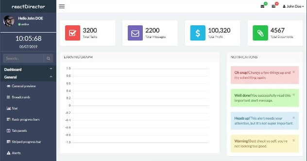 Director - 36+ BEST Free React Admin Dashboard Templates [year]
