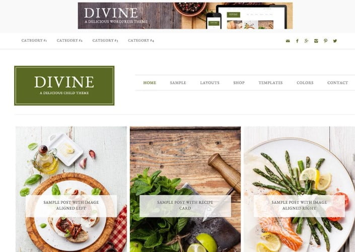 Divine - 41+ AMAZING WordPress Food Themes For Recipes [year]