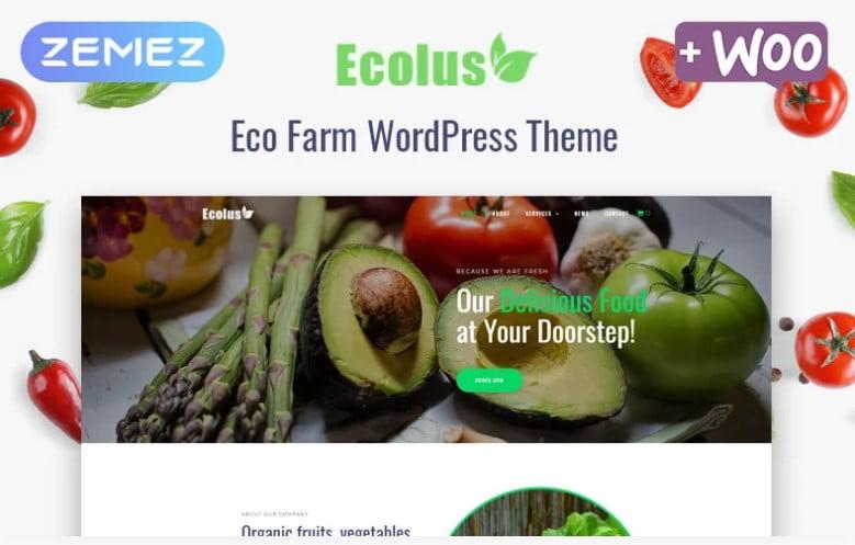 Ecolus - 41+ AMAZING WordPress Food Themes For Recipes [year]