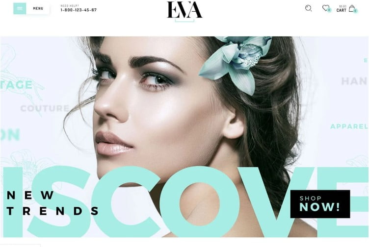 Eva - 47+ AWESOME WordPress Woocommerce Themes [year]