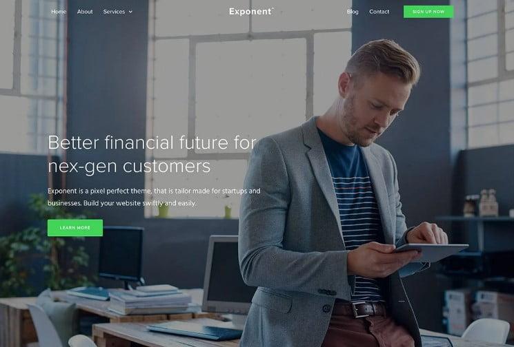 Exponen - 33+ BEST WordPress Financial Themes [year]