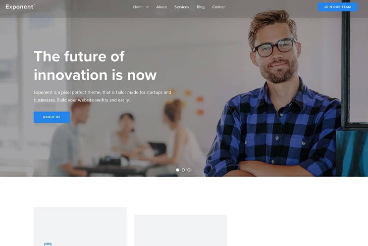 Exponent - 29+ GREAT Startups WordPress Themes [year]