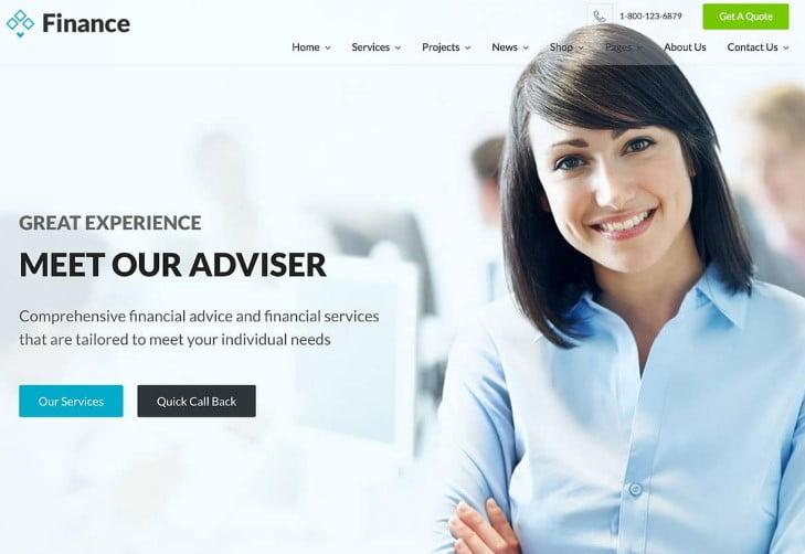 Financ - 33+ BEST WordPress Financial Themes [year]