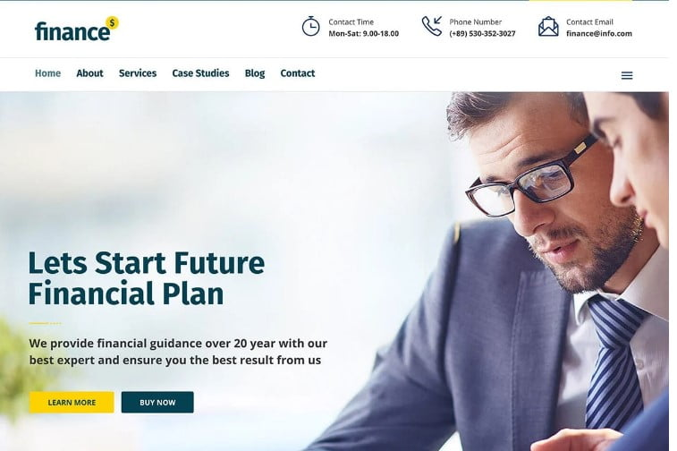 Finance - 33+ BEST WordPress Financial Themes [year]