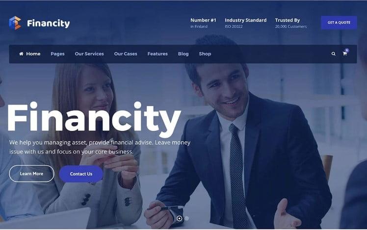 Financity - 33+ BEST WordPress Financial Themes [year]