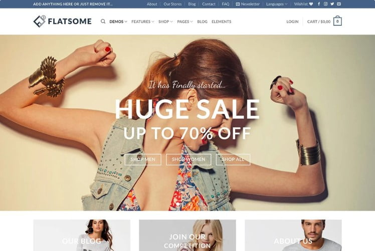 Flatsome - 47+ AWESOME WordPress Woocommerce Themes [year]