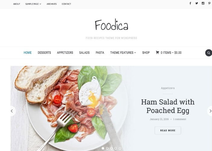 Foodica - 41+ AMAZING WordPress Food Themes For Recipes [year]