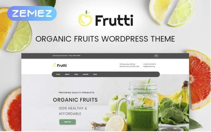 Frutti - 41+ AMAZING WordPress Food Themes For Recipes [year]