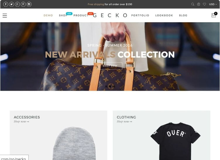 Gecko-1 - 47+ AWESOME WordPress Woocommerce Themes [year]