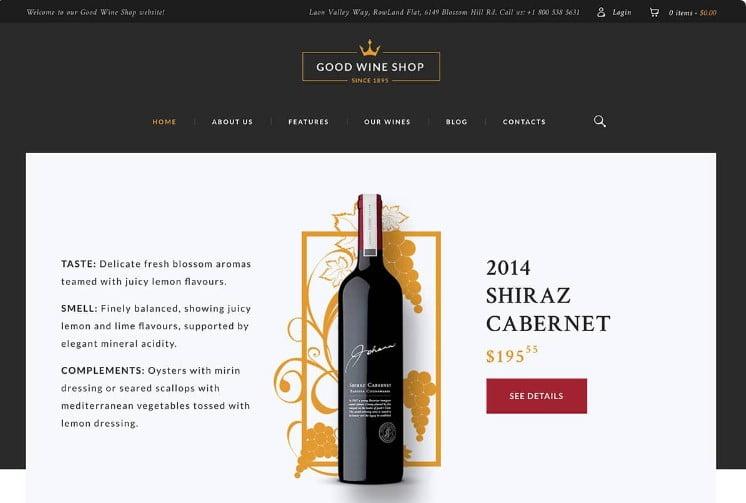 Good-Wine - 28+ NICE WordPress Wine Themes [year]