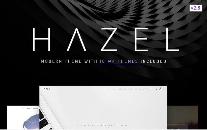 Hazel - 36+ GREAT Designers WordPress Themes [year]