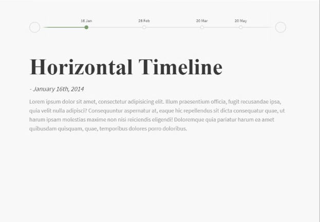 Horizontal-Timeline - 33+ BEST FREE CSS & Javascript Timeline IDEA [year]