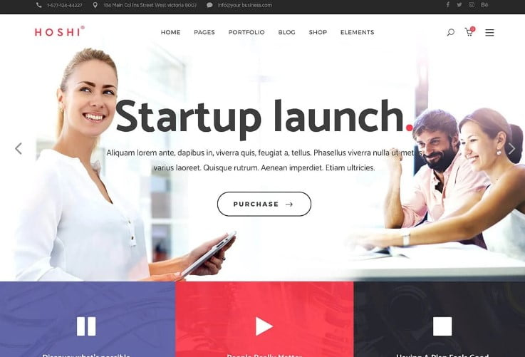 Hoshi - 29+ GREAT Startups WordPress Themes [year]
