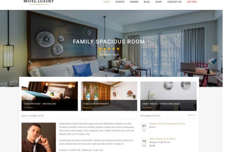 Hotel-Luxury - 25+ GREAT Free WordPress Hotel Themes [year]