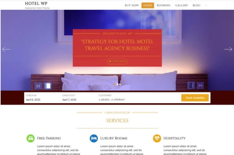 Hotel-WP-Lite - 25+ GREAT Free WordPress Hotel Themes [year]