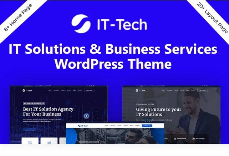 IT-Tech - 33+ BEST WordPress Financial Themes [year]
