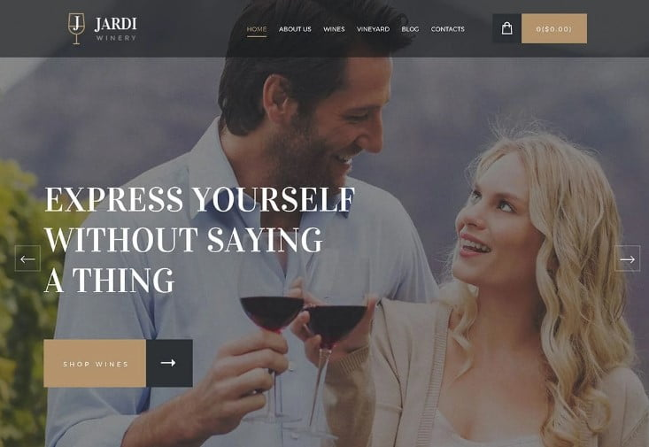 Jardi - 28+ NICE WordPress Wine Themes [year]